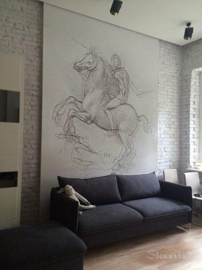 Рисунок в гостиной