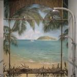 Роспись ванной комнаты