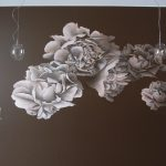 Роспись цветы в спальной