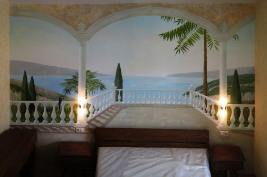 роспись спальни - терраса