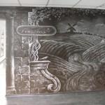 роспись ресторана мелом