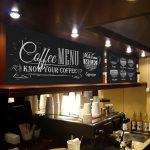 рисунки мелом в кофейне