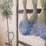 роспись кухни с лавандой